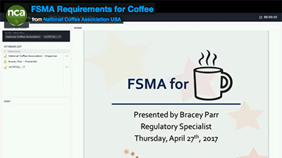 FSMA Webinar On Demand